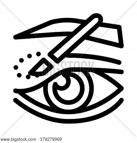 Eyelid Surgery Incision Icon Vector. Eyelid Surgery Incision Sign. Isolated Contour Symbol Illustrat