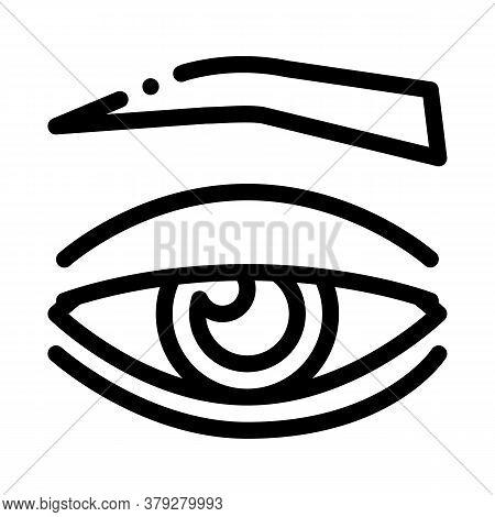 Eyelid Medical Problem Icon Vector. Eyelid Medical Problem Sign. Isolated Contour Symbol Illustratio