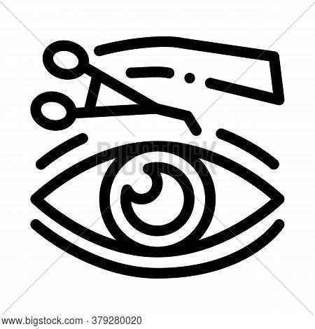 Eyelid Surgery Tool Icon Vector. Eyelid Surgery Tool Sign. Isolated Contour Symbol Illustration