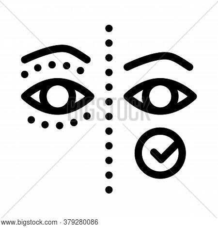 Medical Eyelid Surgery Icon Vector. Medical Eyelid Surgery Sign. Isolated Contour Symbol Illustratio