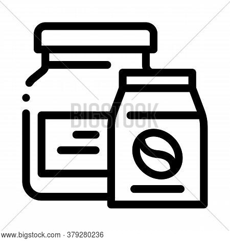Coffee Beans Different Fry Icon Vector. Coffee Beans Different Fry Sign. Isolated Contour Symbol Ill