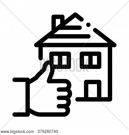 House Hand Gesture Show Like Icon Vector. House Hand Gesture Show Like Sign. Isolated Contour Symbol