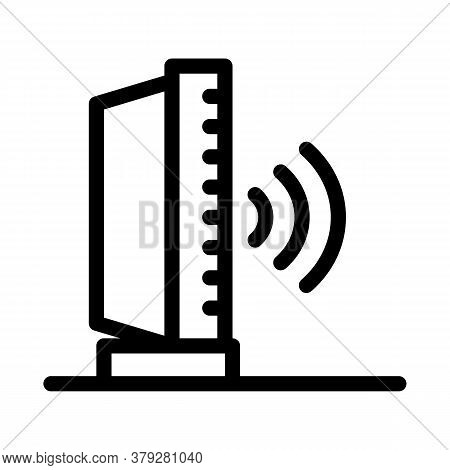 Radio Sound Icon Vector. Radio Sound Sign. Isolated Contour Symbol Illustration