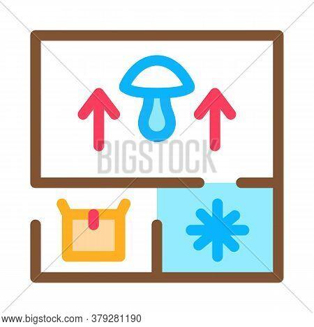 Mushroom Farm Planning Icon Vector. Mushroom Farm Planning Sign. Color Symbol Illustration