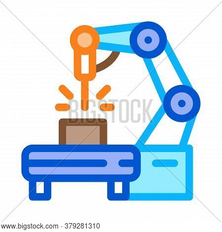Manufacturing Engineering Machine Icon Vector. Manufacturing Engineering Machine Sign. Color Symbol