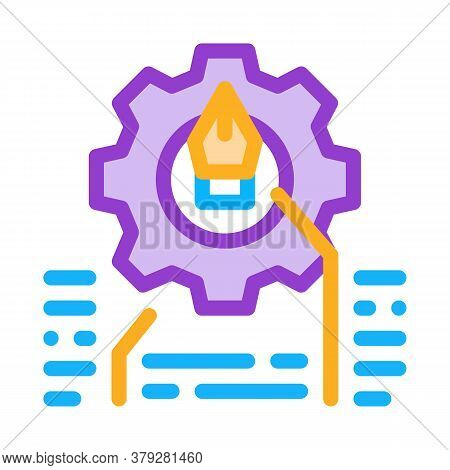 Front End Working And Design Icon Vector. Front End Working And Design Sign. Color Symbol Illustrati