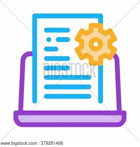 Front End Technical Tasks Icon Vector. Front End Technical Tasks Sign. Color Symbol Illustration