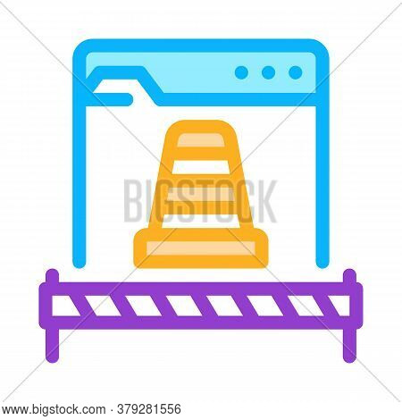 Web Site Repair Icon Vector. Web Site Repair Sign. Color Symbol Illustration