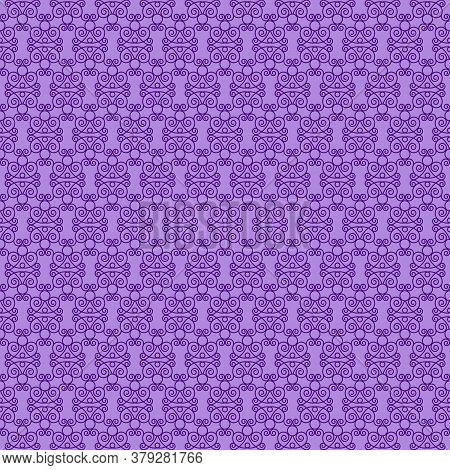 Purple Decorative Openwork Pattern On A Lilac Background