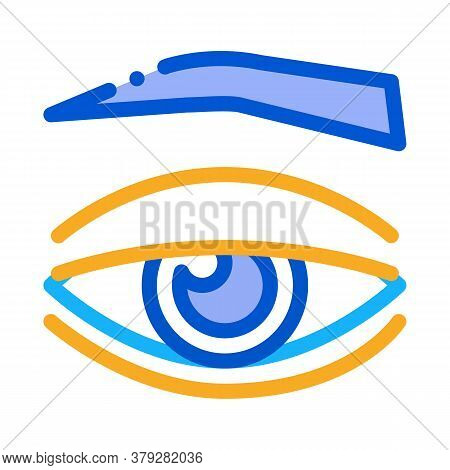 Eyelid Medical Problem Icon Vector. Eyelid Medical Problem Sign. Color Symbol Illustration