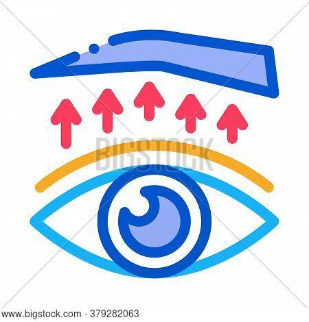 Eyelid Surgery Treatment Icon Vector. Eyelid Surgery Treatment Sign. Color Symbol Illustration