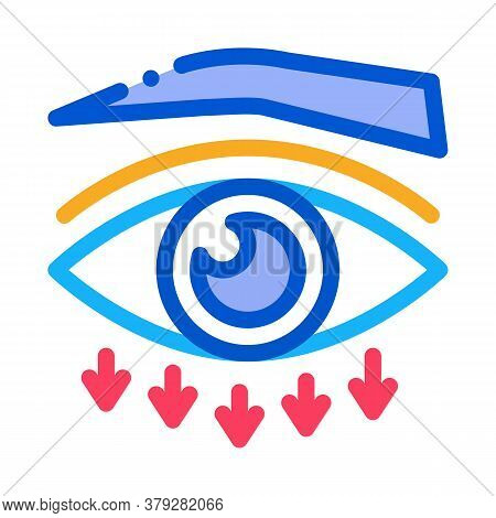 Eyelid Plastic Surgery Icon Vector. Eyelid Plastic Surgery Sign. Color Symbol Illustration