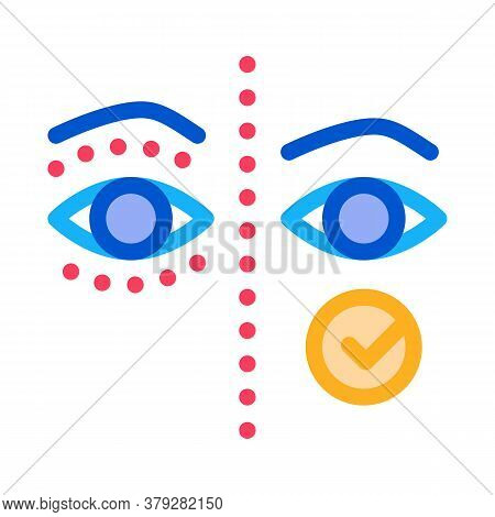 Eyelid Surgery Before And After Icon Vector. Eyelid Surgery Before And After Sign. Color Symbol Illu