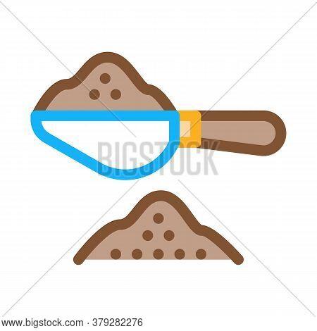 Coffee Spoon Icon Vector. Coffee Spoon Sign. Color Symbol Illustration