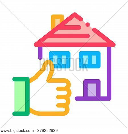House Hand Gesture Show Like Icon Vector. House Hand Gesture Show Like Sign. Color Symbol Illustrati