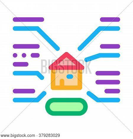 House Characteristics Icon Vector. House Characteristics Sign. Color Symbol Illustration