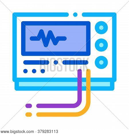 Radio Diagnosis Equipment Icon Vector. Radio Diagnosis Equipment Sign. Color Symbol Illustration