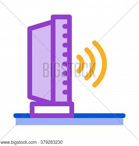Radio Sound Icon Vector. Radio Sound Sign. Color Symbol Illustration