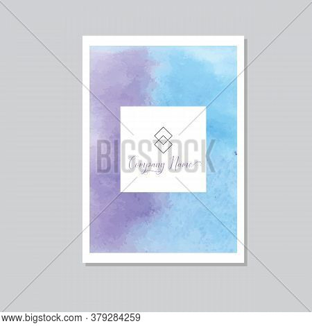 Hand Painted Art Of Watercolor Paint On Watercolor Paper. Abstract Background, Vector Illustration