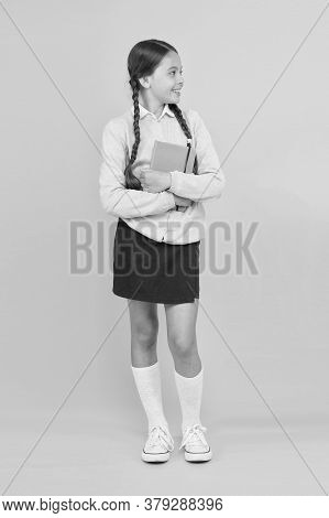 Study In Secondary School. Homeschooling And Private Lesson. Adorable Child Schoolgirl. Formal Educa