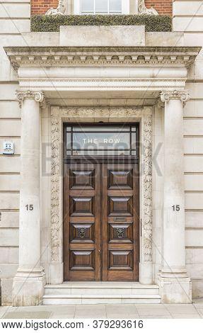 June 2020 London. Beautiful Door, Mayfair, London, England United Kindom Europe