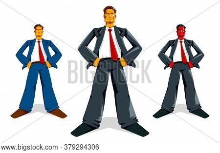 Big Boss Director Stands Confident Serious And Angry Vector Illustration, Bad Boss Despot And Tyrant
