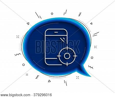 Seo Phone Line Icon. Chat Bubble With Shadow. Smartphone Targeting Sign. Traffic Management Symbol.