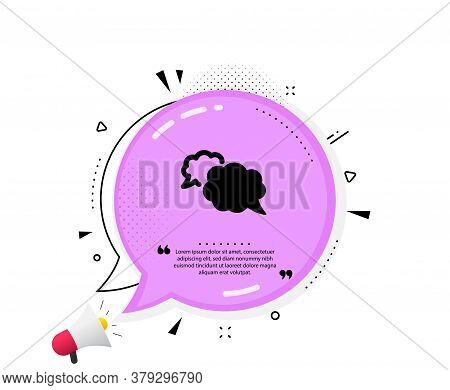 Messenger Icon. Quote Speech Bubble. Comic Speech Bubble Sign. Chat Message Symbol. Quotation Marks.