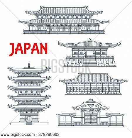 Japanese Temples, Shrines And Japan Pagodas, Kyoto Buddhism Architecture Landmarks. Higashi Hongan-j