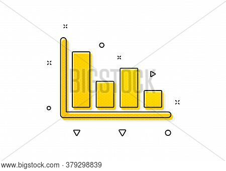 Financial Graph Sign. Histogram Column Chart Icon. Stock Exchange Symbol. Business Investment. Yello