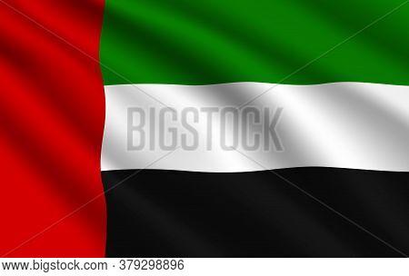 Uae Flag, United Arab Emirates Country National Vector Identity. Foreign Language Learning, Internat