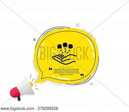 Consolidation Icon. Quote Speech Bubble. Business Strategy Sign. Quotation Marks. Classic Consolidat
