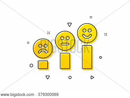Positive Feedback Sign. Customer Satisfaction Icon. Smile Chart Symbol. Yellow Circles Pattern. Clas