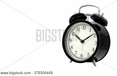 Alarm Clock Isolated On A White Background With Clipping Path