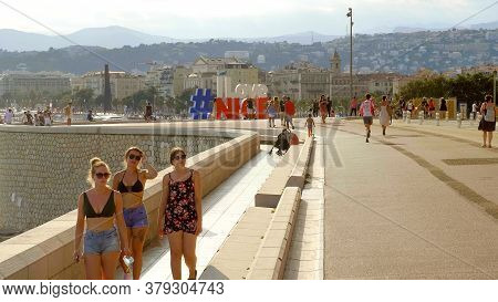Beautiful Promenade In Nice At The Cote D Azur - Nice, France - July 10, 2020