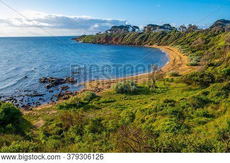Scenic Secluded Ocean Bay On Mornington Peninsula - Beautiful Landscape
