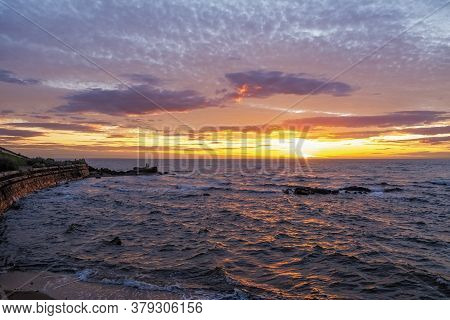 Sunset Over Frankston Foreshore In Melbourne, Australia
