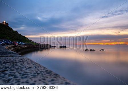 Sunset Over Foreshore In Frankston, Australia - Long Exposure