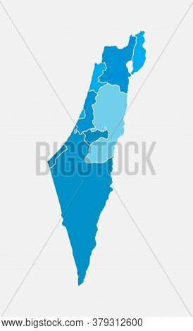 East Country Israel Map Vector Template Background