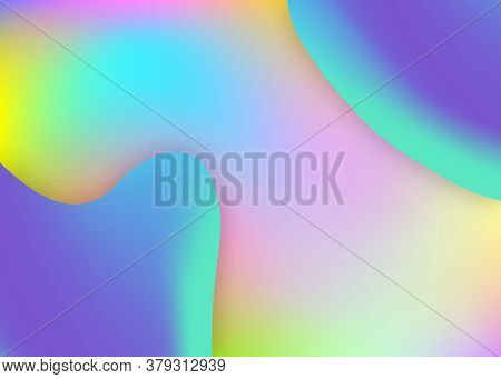Fluid Dynamic. Abstract Certificate, Report Layout. Holographic 3d Backdrop With Modern Trendy Blend
