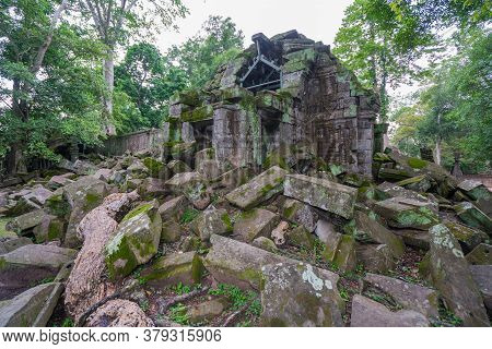 Taphom Castle Or Prasat Ta Prohm Temple At Angkor In Siem Reap Cambodia