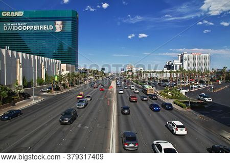 Las Vegas / United States - 06 Jul 2017: The Street In Las Vegas, United States