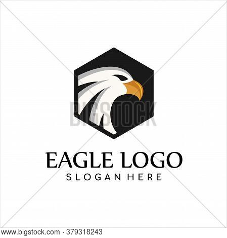 Falcon Eagle Logo Vector, Eagle Head Animal Mascot - Logotype Concept