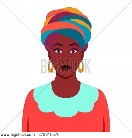 Avatar Of A Girl With A Scarf On Her Head