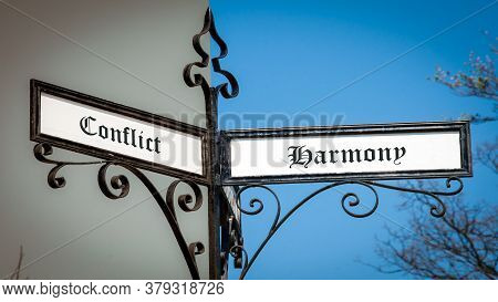 Street The Direction Way To Harmony Versus Conflict