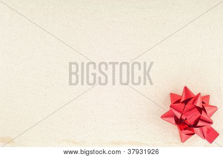 Sackcloth Tag With Red Ribbon