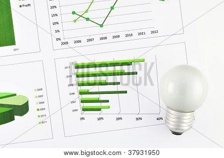 Business Chart Market At Lamp