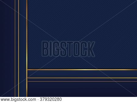 Square Overlap Luxury Frame Pattern Background Premium Design. Vector Illustration.