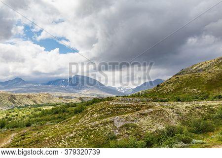 Landscape Doralen Valley In Rondane National Park, Innlandet, West Norway, Scandinavia, Europe