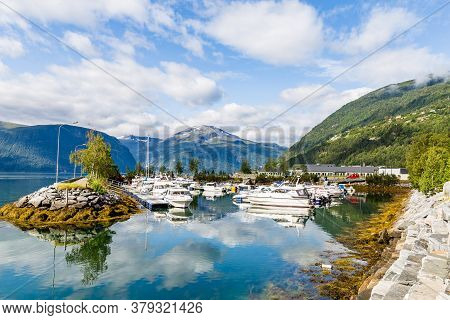 Port Of Sylte Or Valldal Administrative Center Norddal Municipality, More Og Romsdal County, Norway